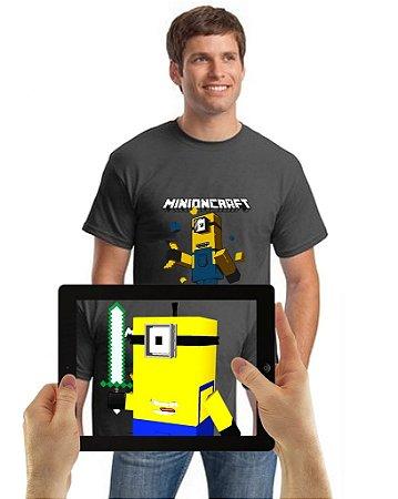 Camiseta Minioncraft comRealidade Aumentada