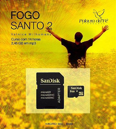 FOGO SANTO 2 DE VALNICE MILHOMENS EM MP3 - CARTÃO MICRO SD de 8GB  - CONTEÚDO  2,45 GB