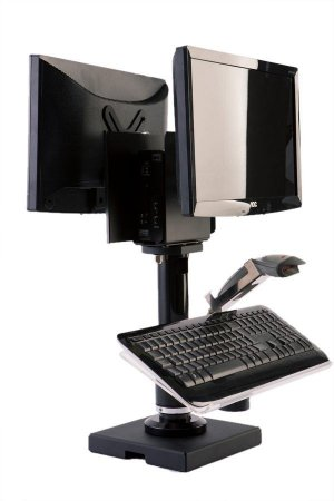 Suporte para monitor, mini-CPU, teclado e leitor de coluna - ND 029