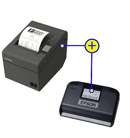 Kit SAT Epson SAT-A10 + Impressora de Cupom Térmica Epson TM-T20 USB