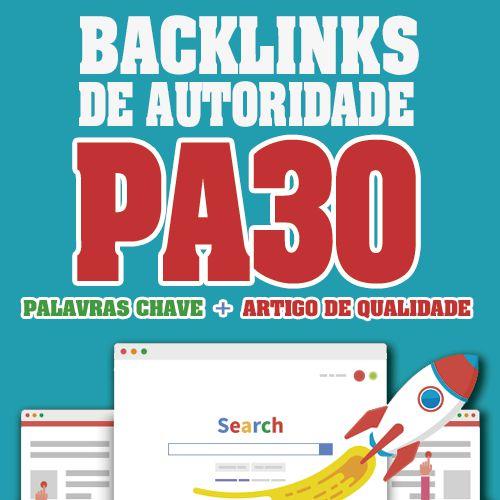 10 Backlinks Dofollow Em PBNs e Web2.0 Com Pa30