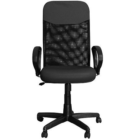 Cadeira Escritório Presidente Preta Giratória com Regulagem de Altura - Pethiflex