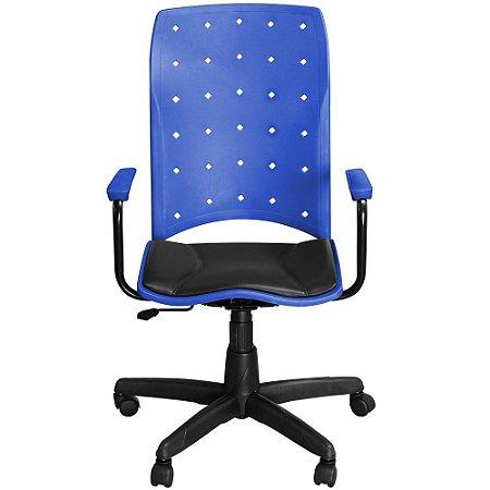 Cadeira Iso Presidente Azul Giratória com Braços e Sistema Relax - Pethiflex