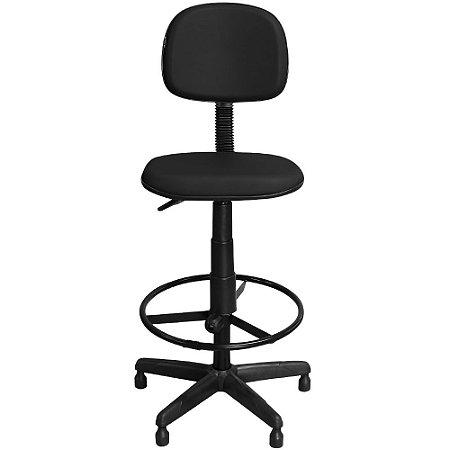 Cadeira Alta Caixa Preta Fixa Giratória com Regulagem e Apoio Pés - Pethiflex