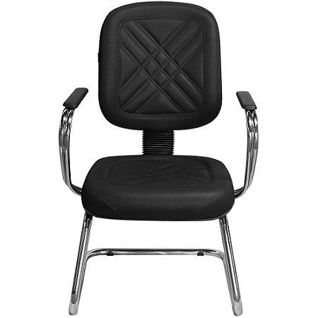 Cadeira para Recepção e Igreja Fixa Diretor Preta - Pethiflex