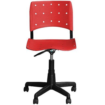 Cadeira de Escritório Iso Giratória Vermelha - Pethiflex