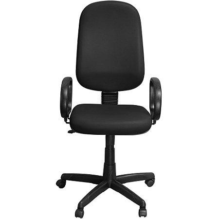 Cadeira de Escritório Presidente Giratória Preta com Braços - Pethiflex