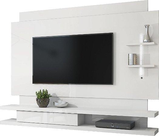 Painel para TV Bellano Branco Laca - DJ Móveis