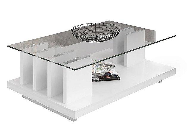 Mesa de Centro New Iris Branco Laca - DJ Móveis