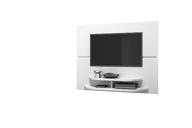 Painel Sala para TV Branco Brilho - DJ Móveis