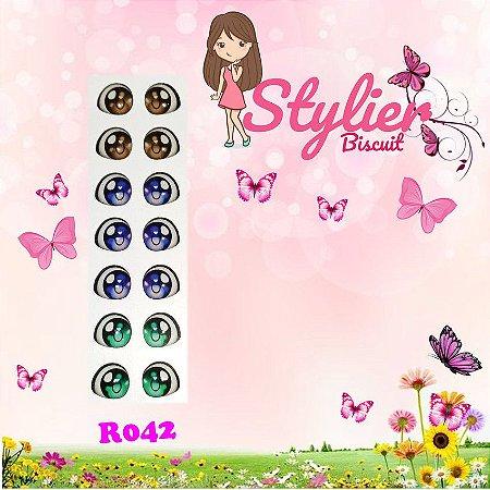 Olhos Resinados R042 Apliques - Stylier