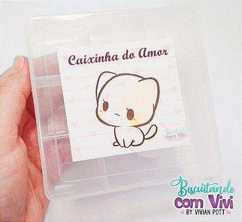 Caixa Organizadora P - Caixinha do Amor - 6 Divisórias