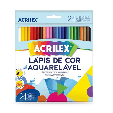 Lápis de Cor - Aquarelável 24 Cores