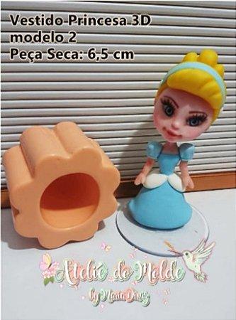 Molde Vestido Princesas 2D - mod. 2 - Ateliê do Molde