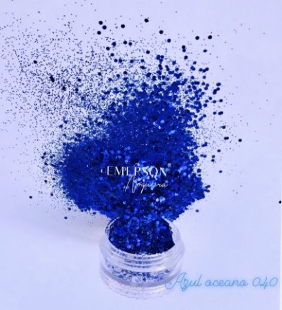 Glitter 040 - Azul oceano