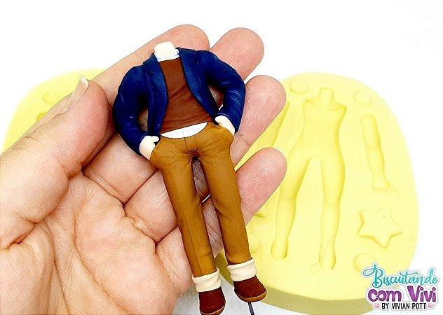 Molde Bip. Chibi Slim Masculino 3D - Corpo - BCV