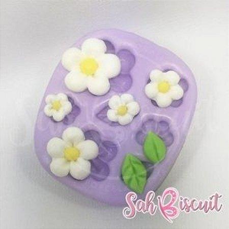 Molde de Silicone Florescer - Sah Biscuit