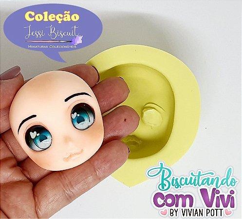 Molde Cabeça Doll Lolita M - Coleção Jessi Biscuit - BCV