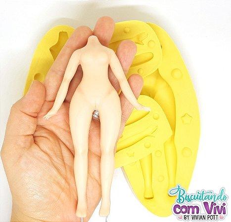 Molde Bipartido - Corpo Doll Teen Feminino - BCV