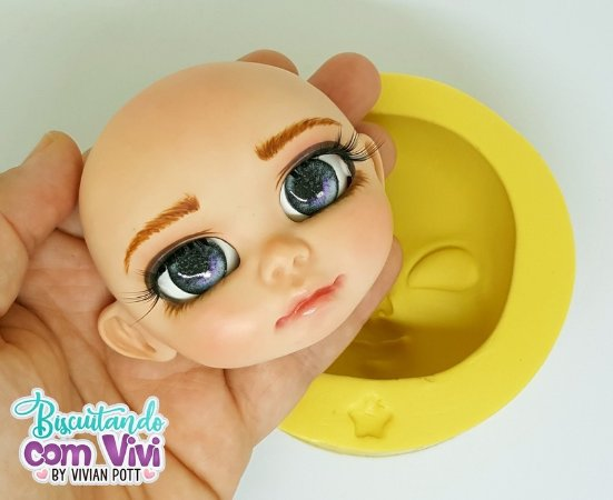 Molde Cabeça Doll Mikaela - BCV