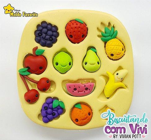 Molde Frutas Kawaii - BCV