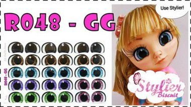 Olhos Resinados Cód. R048 - Stylier