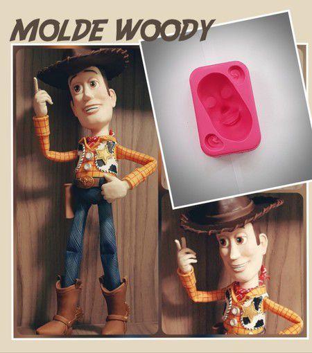 Molde Cabeça Woody - Mundo de Massinha