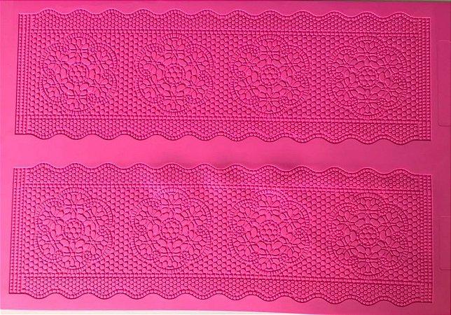 Tapete de Silicone com Textura Renda