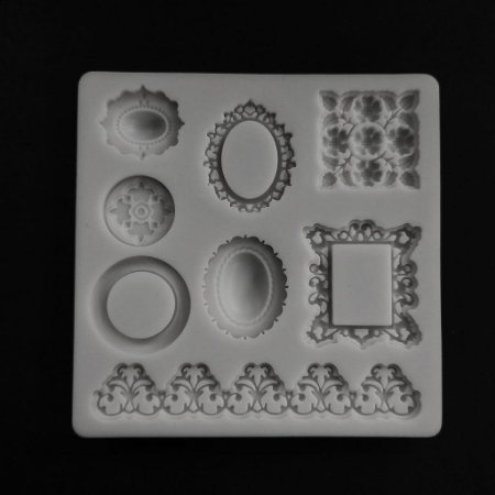 Molde de Silicone Mini Molduras