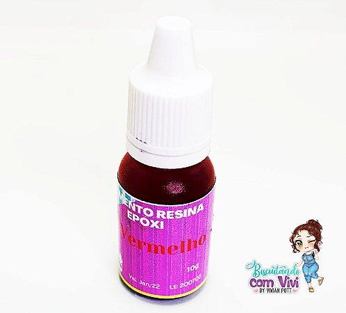Pigmento Vermelho Translúcido Res. Epóxi 10g - BCV