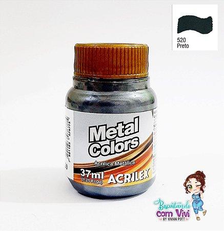 Tinta Acrílica Metal Colors Acrilex - Preto