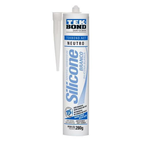 Adesivo de Silicone Neutro Branco (280g) - TEKBOND
