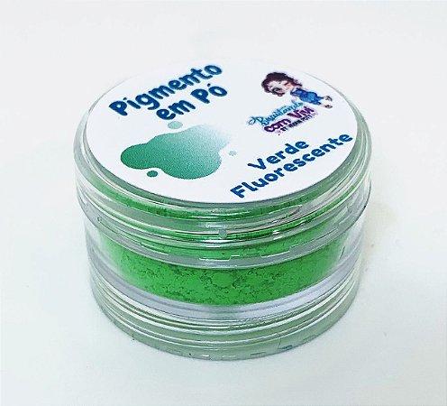 Pigmento em Pó para Resina - Verde Fluorescente