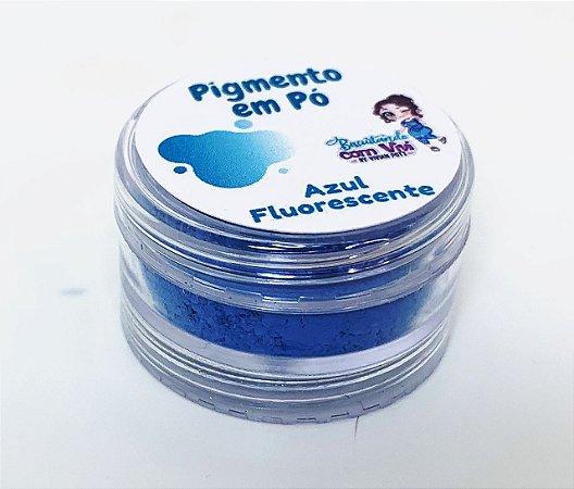 Pigmento em Pó para Resina - Azul Fluorescente