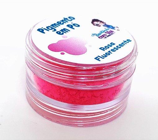 Pigmento em Pó para Resina - Rosa Fluorescente