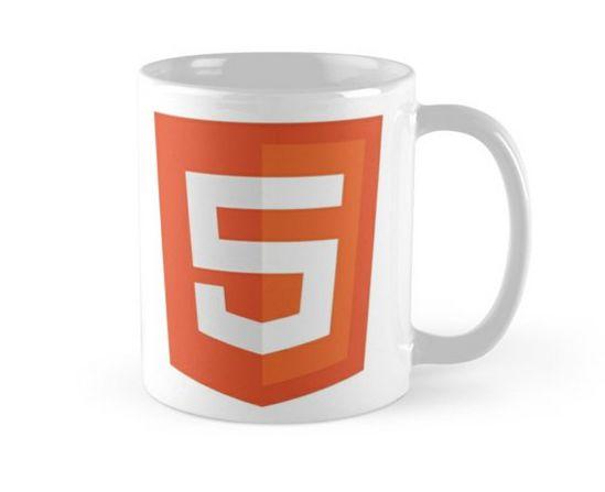 Caneca ceramica HTML5