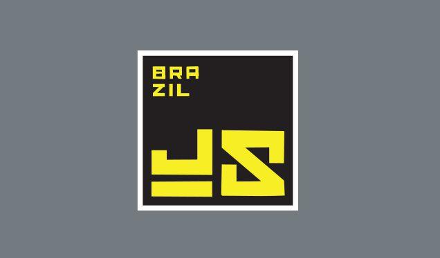 Adesivo BrazilJS quadrado Preto e Amarelo