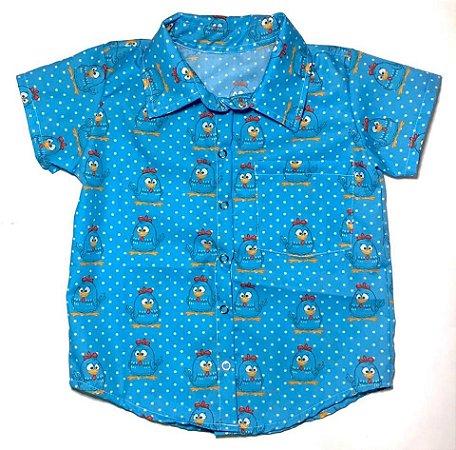 10435ad1db989 Camisa Infantil Temática Galinha Pintadinha - Gravata   Borboleta