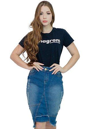 Saia Jeans Moda Evangélica Estonada Anagrom Ref.176