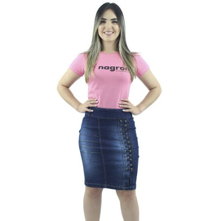 Saia Jeans Evangélica Passantes Transversais Ref.087