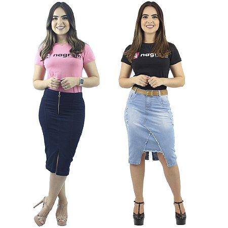 Kit de 2 Saias Evangélica Jeans Modelos Novos