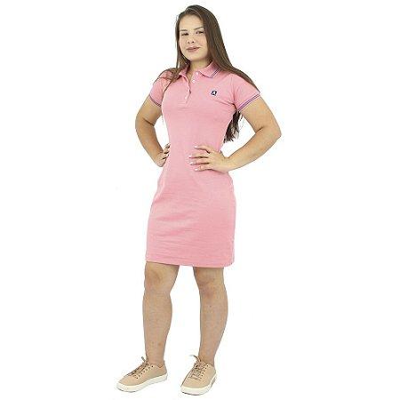 Vestido Gola Polo Malha Salmão Anagrom Ref. 9008