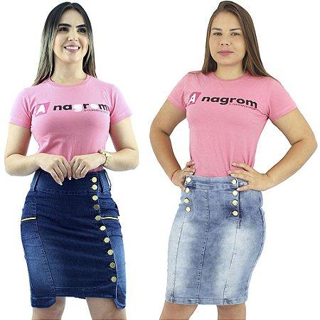 Combo com 2 Saias Anagrom Moda Evangélica Jeans