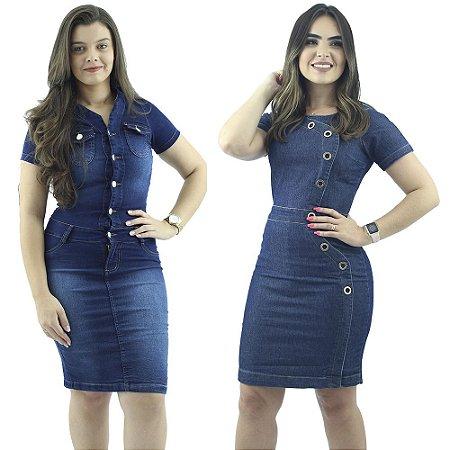 Kit 2 Vestidos Jeans Moda Evangélica Anagrom