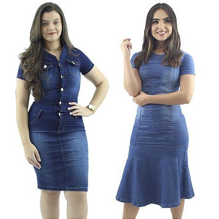 Combo 2 Vestidos Anagrom Jeans Azul