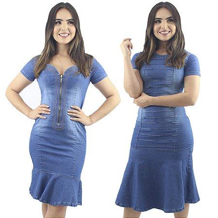Kit de 2 Vestidos Jeans Azul Modelos Diferentes Anagrom