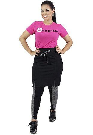 Calça com Saia Moda Evangélica Fitness Preta Anagrom Ref7003