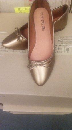 Sapatilha bico fino bronze bf-01