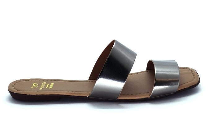 Rasteira fabricação própria PRATA VELHO bq-08