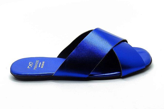 Rasteira fabricação própria azul  bq-02